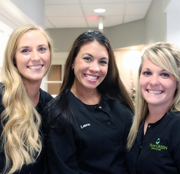 Team Green Dentistry staff members